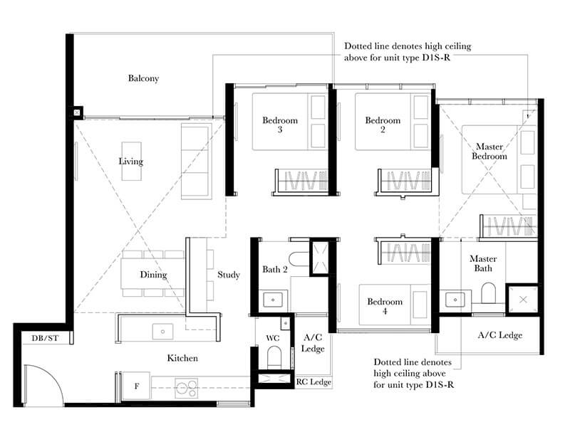 Type D1SR - 1,442sqft